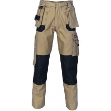 DNC Duratex Cotton Duck Weave Tradies Cargo Pants with twin holster tool pocket - knee pads not included