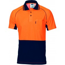DNC HiVis Cotton Backed Cool-Breeze Contrast Polo - Short Sleeve