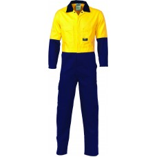 DNC HiVis Cool-Breeze 2-Tone LightWeight Cotton Coverall
