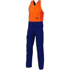 DNC HiVis Two Tone Cotton Action Back Overall