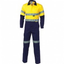 DNC HiVis Two Tone Cott on Coverall with 3M R/Tape