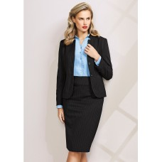 BIZ Ladies Short Jacket with Reverse Lapel