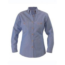 Ladies Chambray Shirt - Long Sleeve