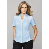 BIZ Bordeaux Ladies Short Sleeve Shirt