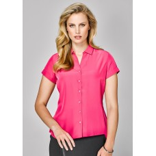 BIZ Solanda Ladies Plain Short Sleeve Shirt