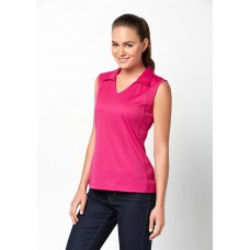 Biz Ladies Sleeveless Polo